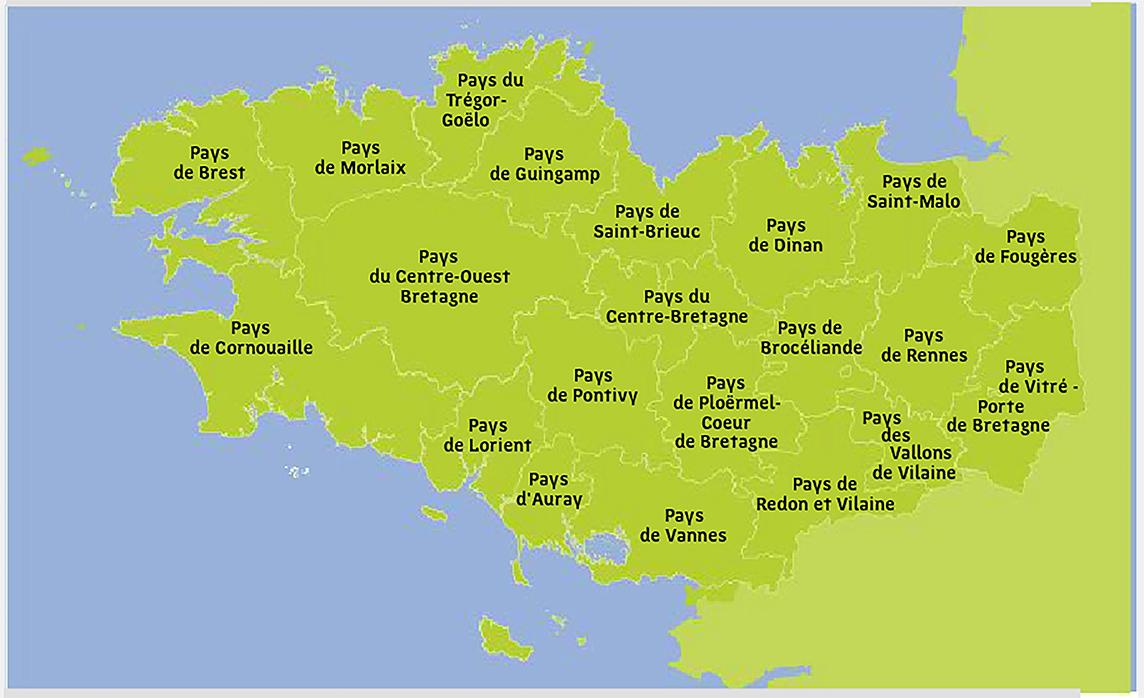 image illustrant une carte de la bretagne